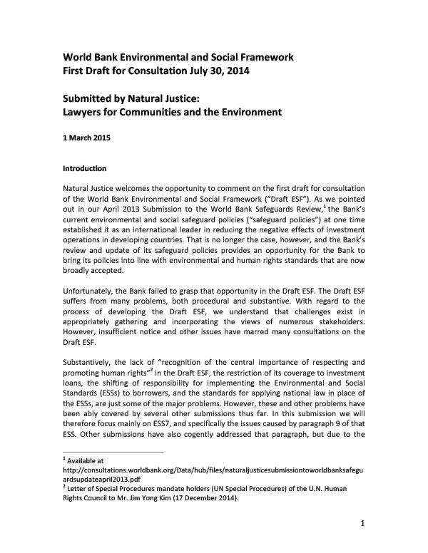 Submission-World-Bank-Framework