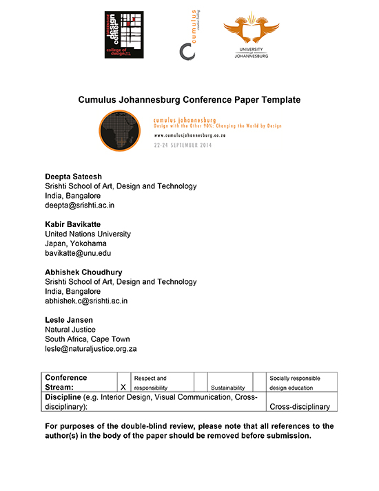 Cumulus-Johannesburg-Conference-Paper-Template